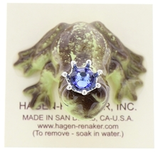 Hagen-Renaker Miniature Frog Prince Kissing Birthstone 09 September Sapphire image 5