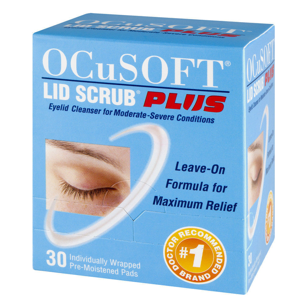 Ocusoft Lid Scrub Plus, Pre-moistened Pads, Individually Wrapped, 30 Count