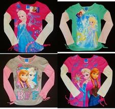 Disney Frozen Anna Elsa Long Sleeve Tees Shirts New Girls Size 4, 5, 6 Or 6X $18 - $12.86+