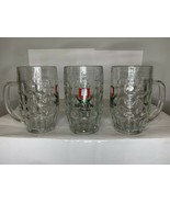 "Set of 3 GS Spaten Munchen 6"" .5L Clear Heavy Glass Mugs - $18.49"