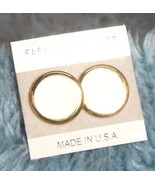 Creme Colored with Gold Trim Post Earrings - $3.99