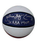 """Julius """"Dr. J"""" Erving Autographed Red, White & Blue ABA Style Basketball... - $319.00"""