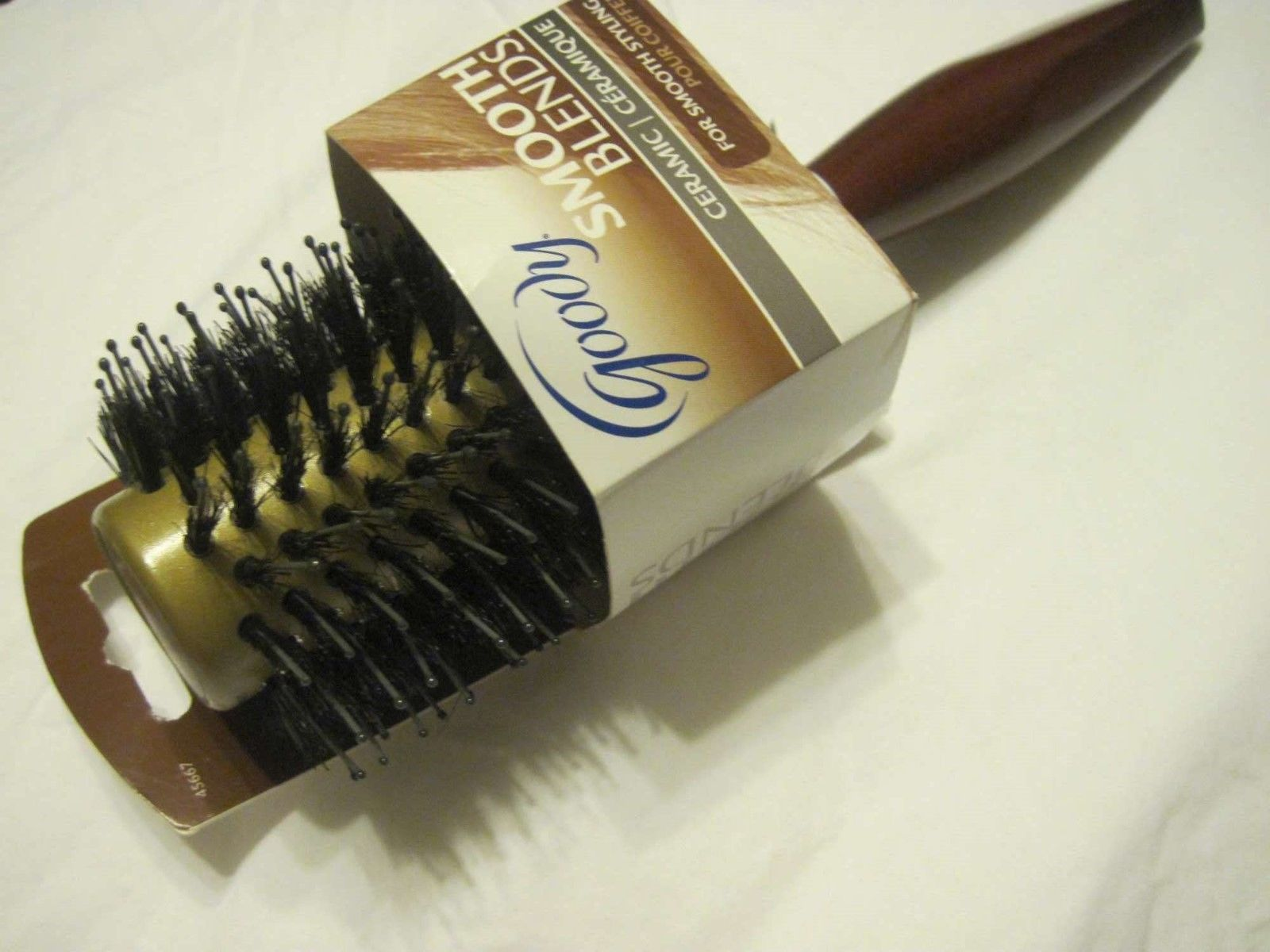Goody Largest Round Smooth Blends Ceramic Boar Blend Bristles Wooden Brush