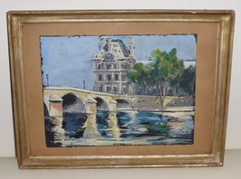 EARLY 20TH CENTURY SIGNED FRENCH WATERCOLOR PAINTING 1940S - $1,000.00