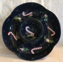 The Cellar Christmas Twilight Collection Laurie Gates Chip Dip Bowl Dish... - $31.99