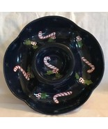 The Cellar Christmas Twilight Collection Laurie Gates Chip Dip Bowl Dish... - $31.67