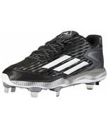 Adidas PowerAlley 3 Mens Metal Sports Baseball Cleats Black/White/Grey S... - $28.81