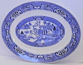"Blue Willow 11 3/4"" Oval Platter  & 11"" Grill Plate - M R Winter - $28.49"