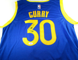 STEPHEN CURRY / AUTOGRAPHED GOLDEN STATE WARRIORS BLUE PRO STYLE JERSEY / COA image 1