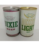 Vintage Dixie And Dixie Light Beer Cans Pull Tops - $13.85