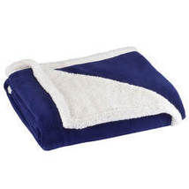 Ultra Plush Microfiber Sherpa Throw by OakRidge-NAVYBLUE - $27.79