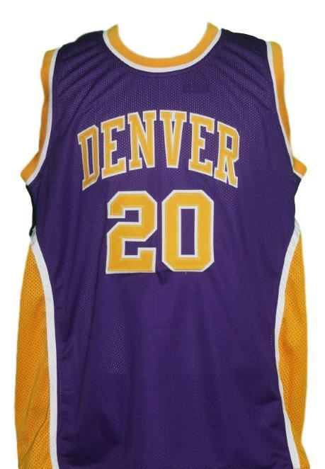 Mack calvin denver rockets aba basketball jersey purple 1