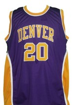 Mack Calvin #20 Denver Rockets Aba Basketball Jersey Sewn Purple Any Size image 1