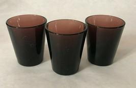 Retro Libbey Cranberry Purple Amethyst Color Shot Glasses Barware -  Set... - $11.87