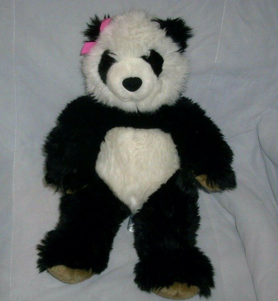 "Primary image for 14"" BUILD A BEAR BLACK WHITE PANDA STUFFED ANIMAL PLUSH TOY SOFT BABW CUTE TEDDY"