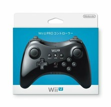 Nintendo Wii U Pro U Controller Black Video Game From Japan Official Import - $115.82