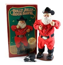 "Vintage 1999 Holly Jolly Rock Animated Dancing 17"" Santa Alan Jackson Ch... - $26.99"