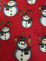 "ChristmasHallmark Specialties Tie Snowmen Baubles Decorations Red Mens 59"" - $11.60"