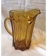 Vtg 70's Amber Glass Juice Beer Pitcher - $7.85