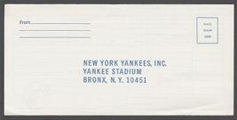 1972 New York Yankees Yankee Stadium Ticket Order Envelope - $9.95