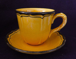"Metlox Poppytrail ""La Mancha"" cup/saucer, cup 3 1/4""tall, 3 3/8"",saucer ... - $16.95"