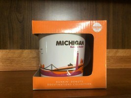 Dunkin Donuts Destination MICHIGAN Runs on Dunkins Coffee Mug 2012 NEW RARE - $29.99