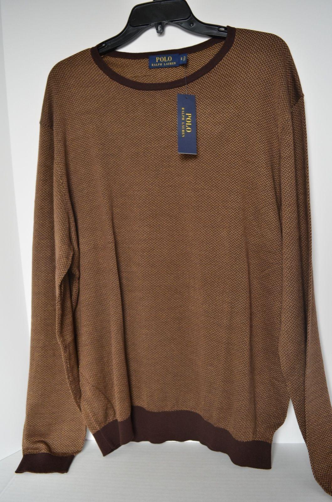 $198.00  Polo Ralph Lauren Silk Cotton Crewneck Sweater  Size L