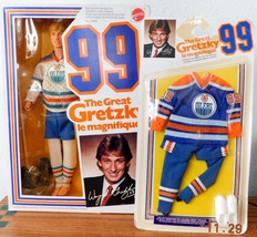 1983 WAYNE GRETZKY OILERS 99 Doll / Action Figure 5949 & Rare OILERS UNI... - $127.71