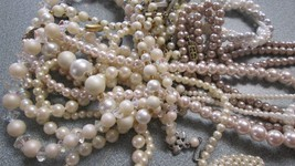 Lot of Pearl Strands Beaded Necklace Multi Strand 10 VINTAGE PIECES - $64.35