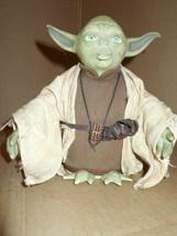 Star Wars Hasbro Talking YODA Figurine 2004 ~ - $18.69