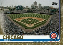 2019 Topps Gold #197 Wrigley Field > Chicago Cubs > SER NUM 1867/2019 - $1.39