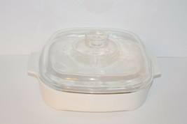 Corning Ware MW-A-10 Casserole Microwave Browning Dish White With Lid - $13.81