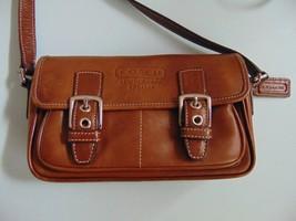 Vintage Coach Handbag G30-9355 Small Shoulder Bag Color Brown - $46.74