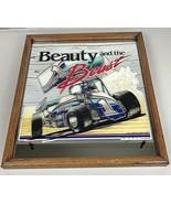 Sprint Car Racing Bar Mirror Wood Framed Sign Vintage RARE Outlaws 1988 ... - $88.88