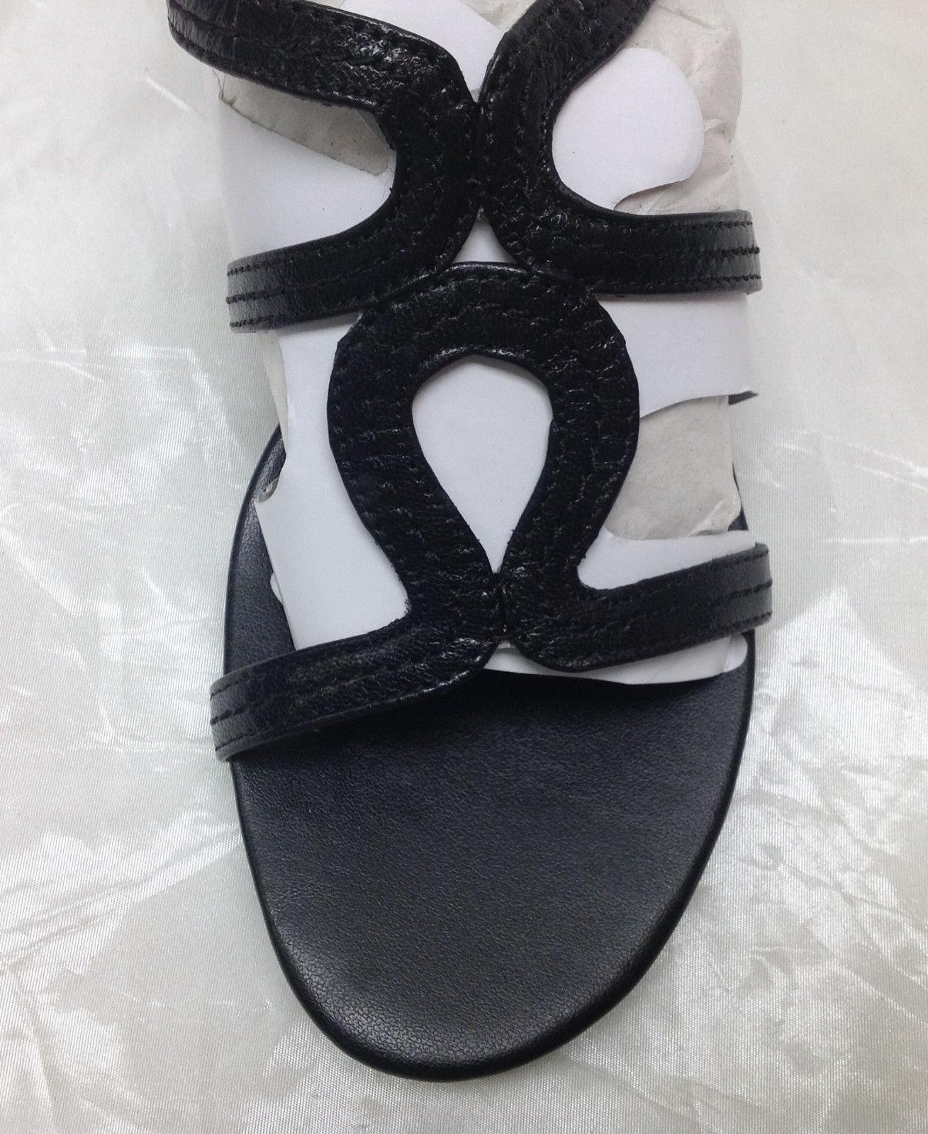 Andrew Women's Geller Leather Multi-Strap Gladiator Sandals, Black, Size 6M
