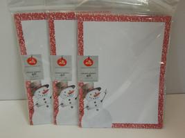 Set of 3 Gartner Studios Be Merry Stationerys Letterhead Snowman 40Ct 8.... - $16.78