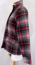 WOOLRICH Womens S/SMALL MAPLE RUN Button UP WOOL Quilt Lined BLACK PLAID Jacket image 6