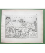 1848 Fine Quality Map - SPAIN St. Sebastian & Environs + Siege of 1813 - $16.20