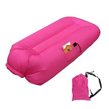 Lafuncosa Inflatable Lounger Air Sofa Camping Air Bed Beach Air Couch Ch... - $38.15