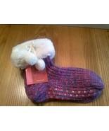 Aerosoles Slippers Sock Size 9-11 Non Skid Non-Slip faux fur Cuff pom sp... - $9.85