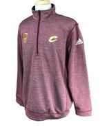 Adidas Men's Climawarm 1/4 Zip Cavs Wine Gold Member Burgundy Jacket XL - $24.74