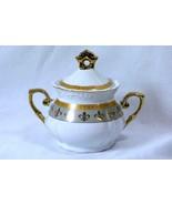 Royalty China Joseph Sedgh Collection Fleur De Lis Covered Sugar Bowl - $18.89