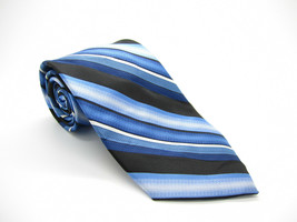 Pierre Cardin Blue Mulicolor Striped Tie - $5.99