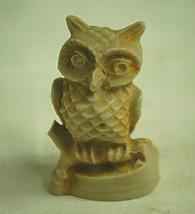 Owl Bird Shadow Box Shelf Decor Resin Figurine Unknown Maker - $9.89