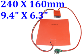 "6.7/"" X 6.7/"" 170 X 170mm 12V 100W 3M 3D Printer Factory Direct Sale iThermal Pad"