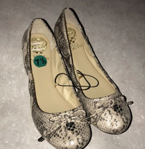 Vince Camuto Snake Print Loafers Shoes 7.5 Trendy Style Ballet ERIN NEW - $27.72