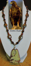 Golden Eagle artisan handcrafted genuine bronzite, smokey topaz, tiger's... - $110.00