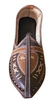 Men Shoes Indian Handmade Mojaries Leather Espadrilles Flat Brown Jutti US 9  - $34.99