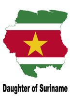 Daughter of Suriname Surinamese Country Map Flag Poster High Quality  - $6.90+