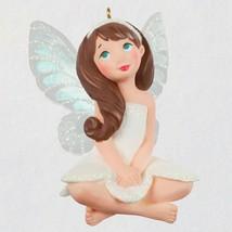 Hallmark 2021 White FREESIA Flower Sparkle FAIRY Messenger Series Ornament - $29.95